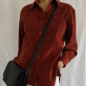 Vintage Terracotta Button Down Blouse